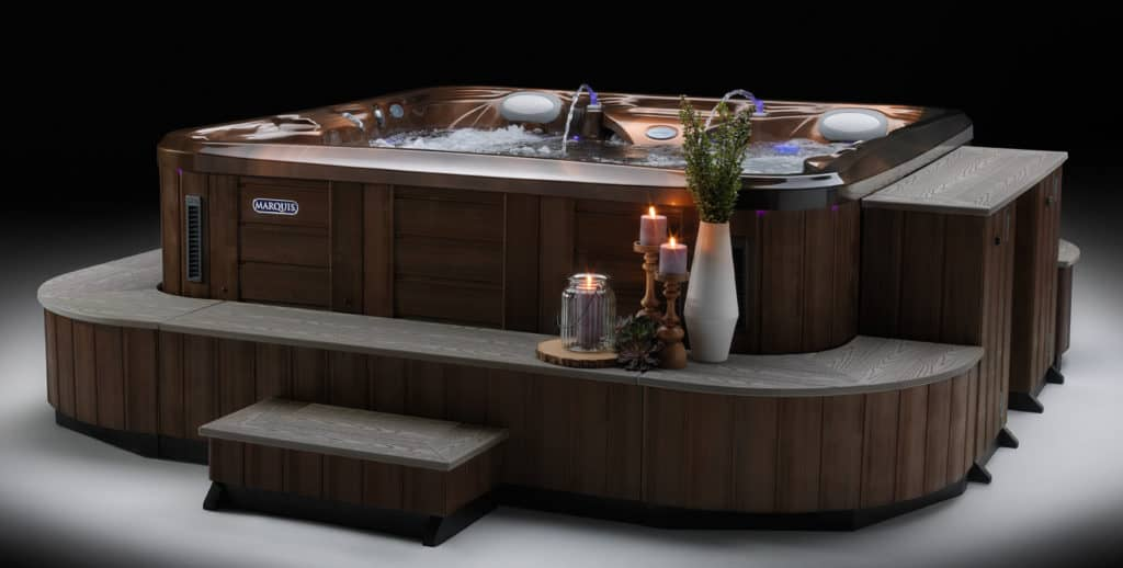 Marquis Elite Hot Tub with Candles